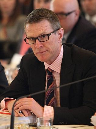 BCM NEWS 9/10/2012. Jon Grayson, Director-General Department of the Premier and Cabinet, QLD Budget Estimates, Red Room, Qld ...