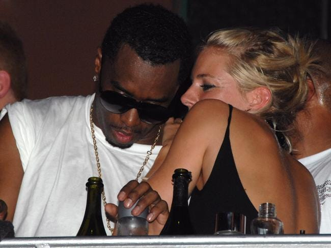 Sienna Miller and P. Diddy In early 2007 some racy pics surfaced of Sienna Miller and P. Diddy getting cozy in a club. Neither of them confirmed that they hooked up, but photogs reportedly saw him leaving her hotel early the next morning. Where there's smoke... Picture: Getty Images