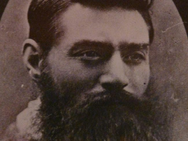 Bushranger Ned Kelly.