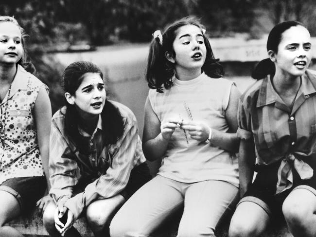 Child stars expecting children ... Gaby Hoffmann (second from left) and Christina Ricci (far right) in 'Now And Then' (1996).