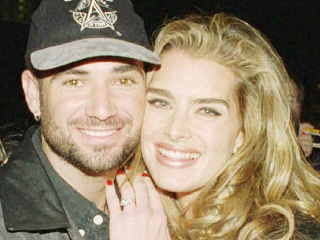 Brooke Shields and Andre Agassi when they were together.