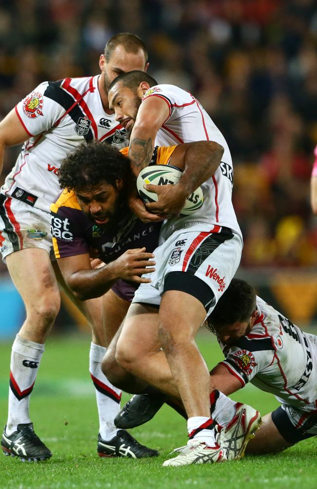 Sam Thaiday of Brisbane in action.