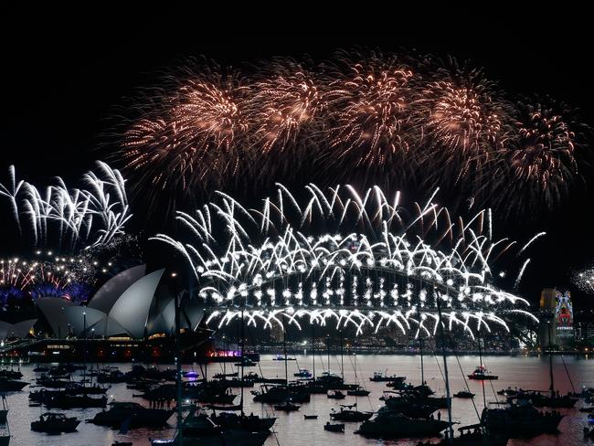 Festive ... Sydneysiders have ushered in the new year in style. Picture: Zak Kaczmarek/Getty Images