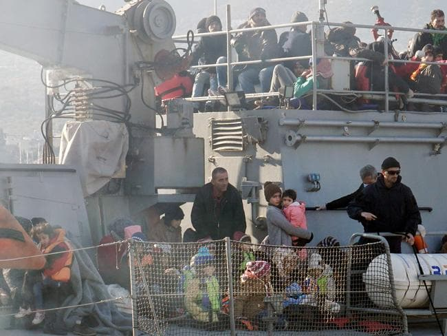 Migrant crisis ... NATO makes a move to tackle people smugglers taking migrants and refugees from the Turkish coast.