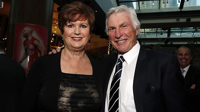 Carlton coach Mick Malthouse and wife Nanette. Picture: Julie Kiriacoudis