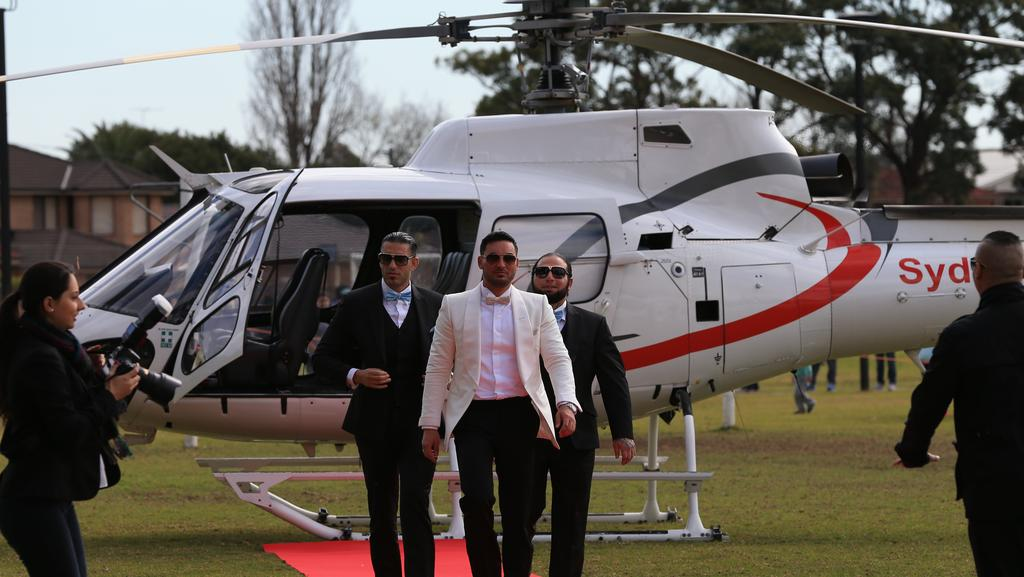 The ban comes after Salim Mehajer's lavish wedding where a helicopter was landed on council property. Picture: Toby Zerna