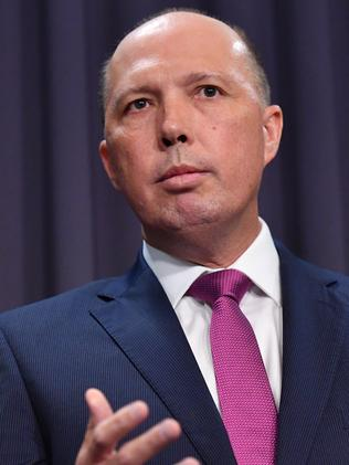 Minister for Immigration Peter Dutton. Picture: AAP Image/Mick Tsikas