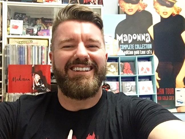 Sydney fan Matt Tyler has one of Australia's biggest Madonna collections. Picture: Supplied