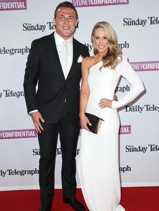 Sam Burgess and Phoebe Hooke.