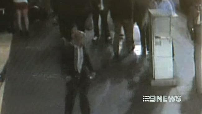 CCTV footage after Mr Blackmore was attacked.