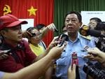 Vietnamese Major Gen. Do Minh Tuan, deputy commander of Vietnam Air Force, answers to the media about the search operation for missing Malaysian Airlines Boeing 777 over the seas between Malaysia and Vietnam. Picture: AP