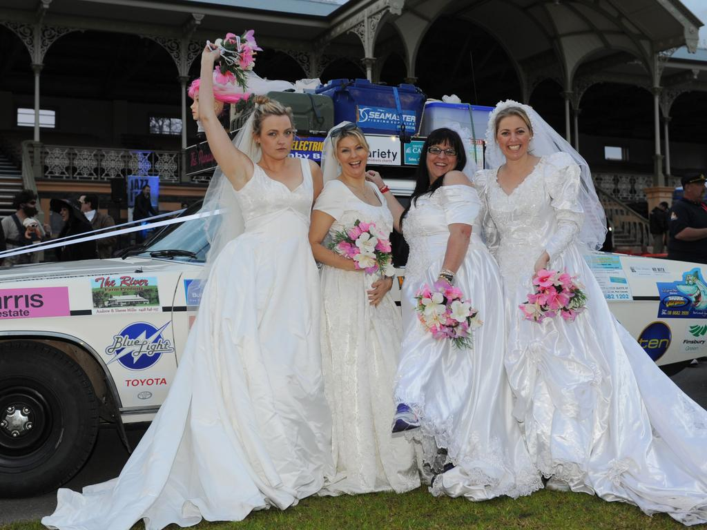 The Runaway Brides from Port Lincoln get ready for the Bash. Photo Naomi Jellicoe