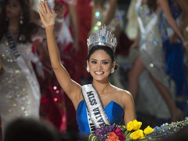 New queen ... Miss Philippines Pia Alonzo Wurtzbach is crowned Miss Universe 2015. Picture: AFP