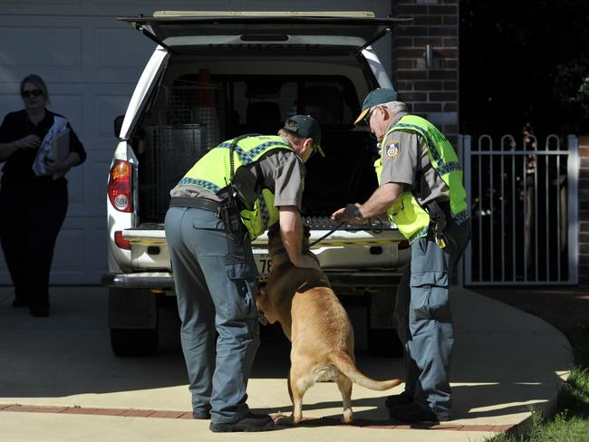 Police at biological parents' home ... A dog allegedly left alone for at least three days is taken to the RSPCA.