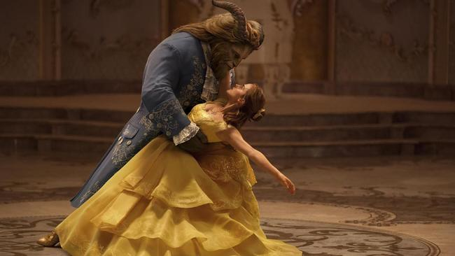 Emma Watson stars as Belle and Dan Stevens as the Beast in Disney's Beauty and The Beast.