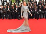 Doutzen Kroes poses as she arrives on May 24, 2017 for the screening of the film 'The Beguiled' at the 70th edition of the Cannes Film Festival in Cannes, southern France. Picture: aFP
