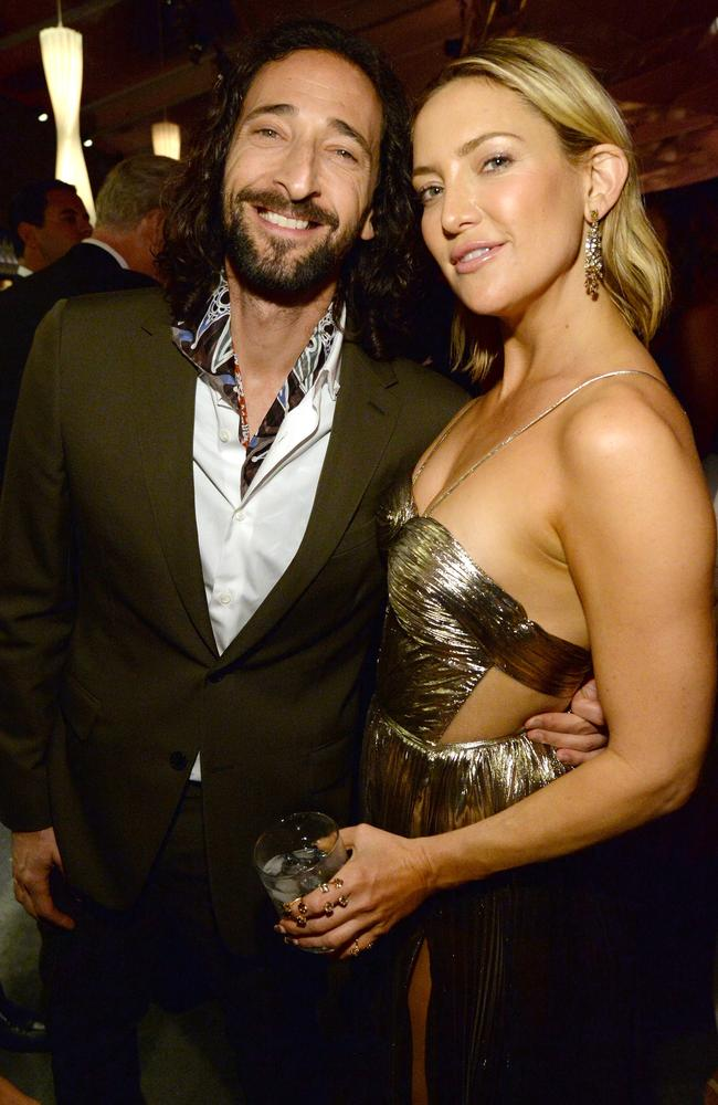 Adrien Brody and Kate Hudson attend the 2016 Vanity Fair Oscar Party. Picture: Kevin Mazur/VF16/WireImage