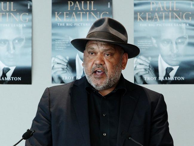 "Noel Pearson makes a speech at the launch of ""Paul Keating: The Big-Picture Leader"", a biography of former Prime Minister Paul Keating. Picture: Hollie Adams/The Australian"