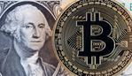 A bitcoin token sits next to the image of George Washington on a U.S. one dollar bill in this arranged photograph in London, U.K., on Wednesday, Jan. 4, 2017. The electronic coin that trades and is regulated like oil and gold surged 79 percent since the start of 2016 to $778, its highest level since early 2014. Photographer: Chris Ratcliffe/Bloomberg