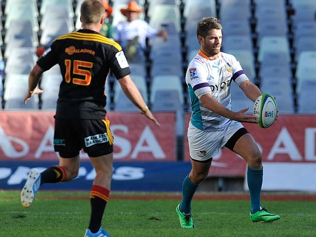 Willie Le Roux of the Cheetahs in action during the Super Rugby match between the Cheetah