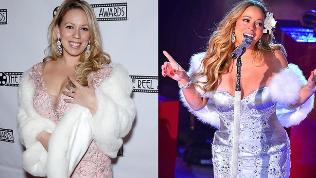 We don't think Mariah and this fan belong together.
