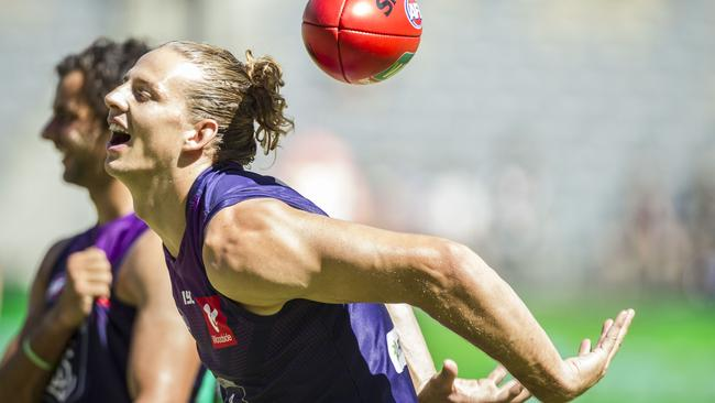 Nat Fyfe won't play AFLX after all. Pic: AAP