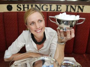 News. Louise Bellchambers at the Shingle Inn in Carindale mall with a sugar bowl . 26.3.13 Pic Annette Dew