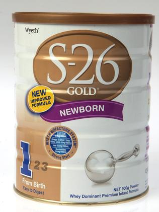 In demand … S26 Gold baby formula.
