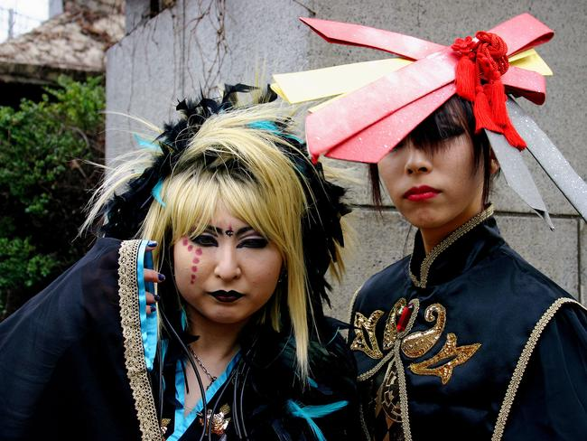 "Fashionistas called ""Takenokozuko"" who converge on the Harajuku area of Tokyo every Sunday. Some cosplay girls have more sense of style and fashion than the usual Goths, French maids and cartoon characters."