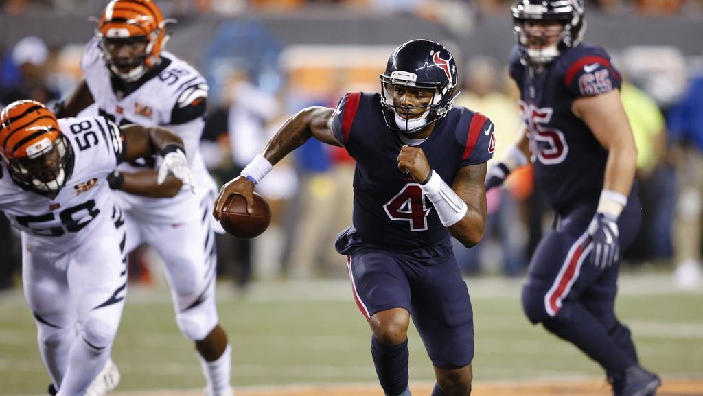 Houston Texans quarterback Deshaun Watson (4) enjoyed a dream starting debut.