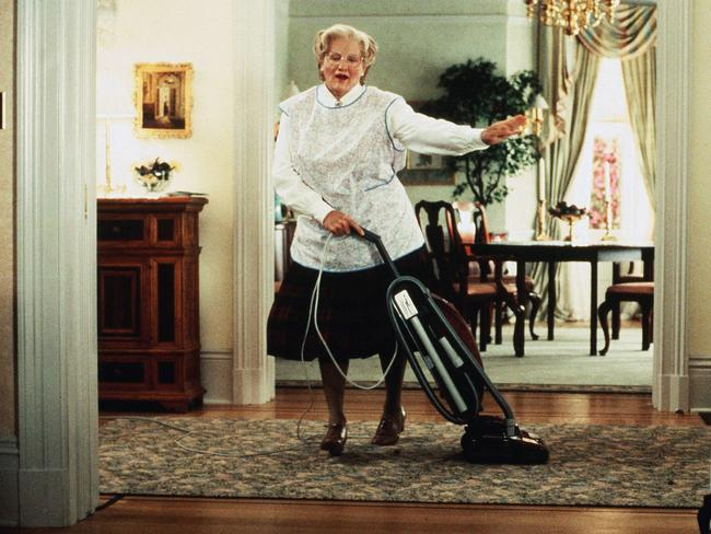 Robin Williams wore prosthetic makeup and donned a fat suit for his role in Mrs. Doubtfire.