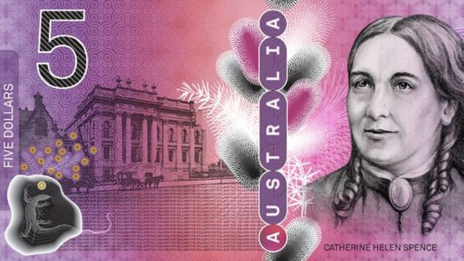 What could have been. Early prototypes for our new $5 note. With less wattles. Picture: Reserve Bank of Australia.