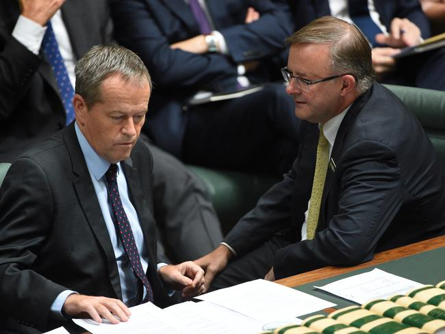 Bill Shorten and Anthony Albanese have accused the government of not having an agenda. (AAP Image/Mick Tsikas)