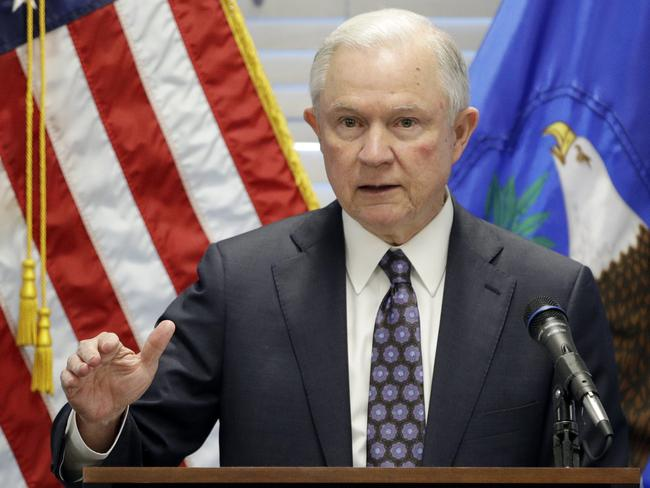 Attorney-General Jeff Sessions who recused himself from overseeing the Russia investigation. Picture: AP