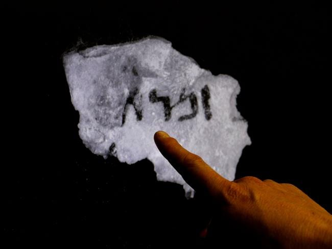 An infra-red scan of a fragment of a Dead Sea Scroll containing a previously unseen hidden text. Picture: AFP