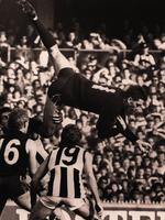 Stephen Silvagni takes a spectacular grab against Collingwood.