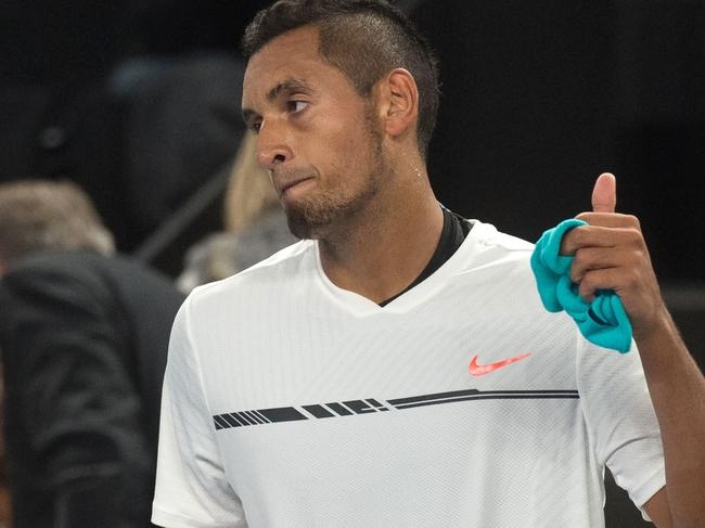 Kyrgios ump rant: 'You guys are biased as s***'