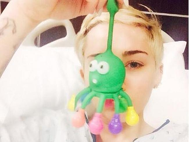 Hospitalised ... Miley Cyrus has postponed her US tour due to a severe allergic reaction.