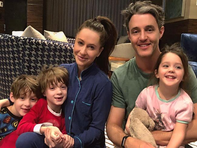 Jessica and Ben Mulroney with their three children.