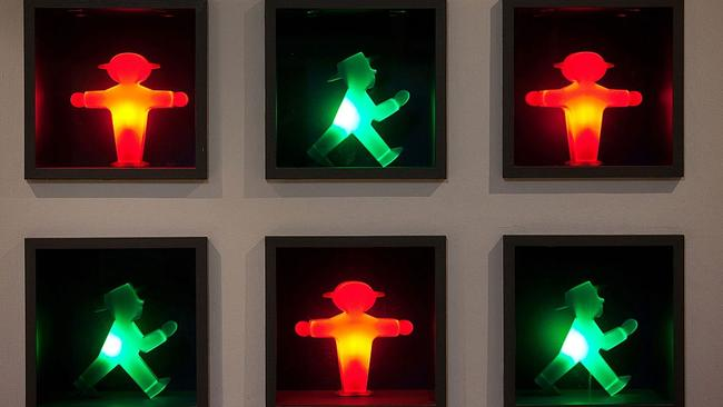 The Ampelmännchen is as much an artistic symbol of Berlin as a traffic sign. Picture: Krisztian Bocsi/Bloomberg via Getty Images