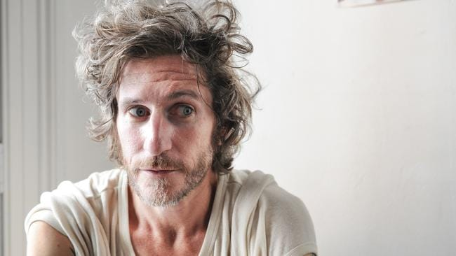 Pictured is You Am I front-man Tim Rogers - Tim is trying his hand at acting for a new play at Griffin Theatre Company. He's also composed the music for the show, called The Story of Mary MacLane by Herself, and will do several acoustic sets after the performances. All photographs taken at the Griffin Theatre offices on Craigend St, Kings Cross , Sydney NSW.