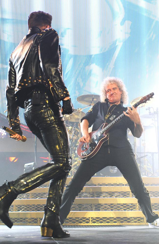 Queen with Adam Lambert. Photo: Jackson Flindell.
