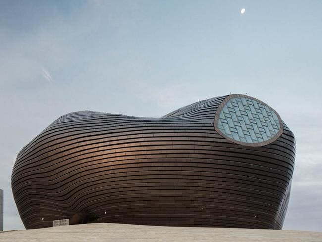 Ordos Museum, which Mr Olivier said was pretty pathetic inside. Picture: Raphael Olivier