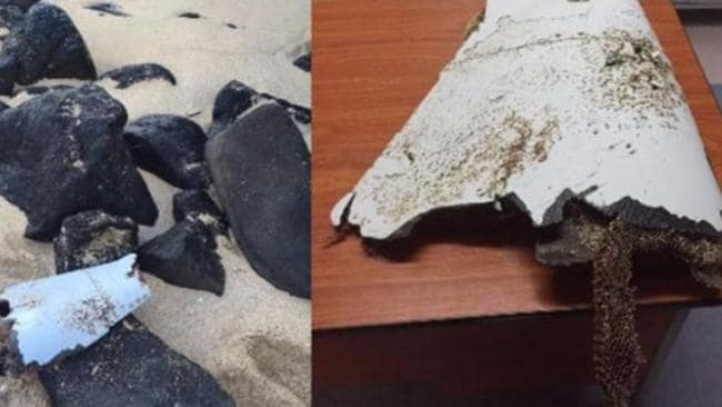 The piece found at Gris-Gris (left in situ) and right (at the National Coast Guard) sports a fair bit of marine fouling