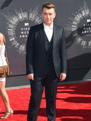 Sam Smith attends the 2014 MTV Video Music Awards.