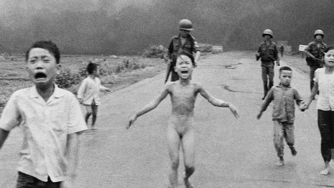 Image result for napalm girl in vietnam photo