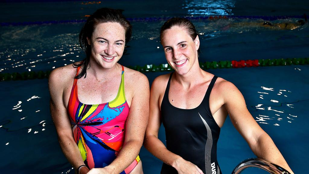 Cate Left And Bronte Campbell In Adelaide Ahead Of The Olympic Trials