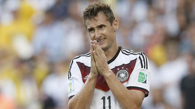 Bowing out ... German forward Miroslav Klose has retired from international play.