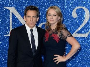 Ben Stiller and Christine Taylor attend a Zoolander No 2 screening, February 4, 2016 in London, England. Photo: Jeff Spicer/Getty Images.