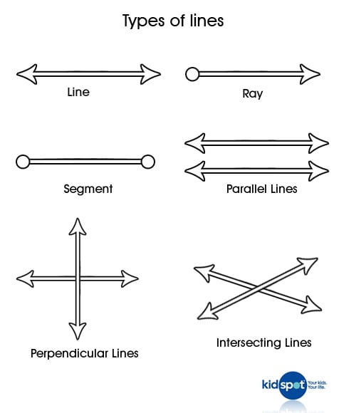 Different Types Of Lines : Maths for kids mathematical lines kidspot